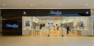 Istudio shop at Central Embassy thailand. BANGKOK - June 13: Istudio shop at Central Embassy , June 13, 2014. It is a premium reseller of Apple Inc in Thailand Royalty Free Stock Photos