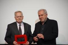 István Szabó at the Internationales Filmfestival Mannheim-Heidelberg 2017. Mannheim/Heidelberg, Germany, 2017-11-12. István Szabó l is awarded as Stock Photo