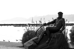 Istvan Bujtor雕象在04的, 2018年2月 Balatonfured 免版税库存图片