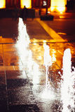 Istvan Dobo Square fountain Stock Photo