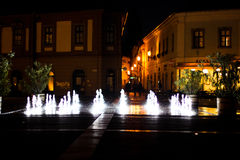 Istvan Dobo Square fountain Royalty Free Stock Photography