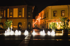 Istvan Dobo Square fountain Royalty Free Stock Images