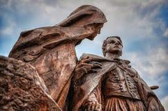Istvan Tisza statua, szczegół, Budapest fotografia royalty free