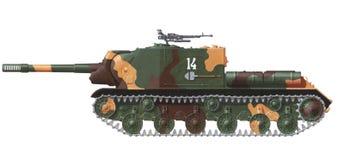 Isu-152 aanvalskanon royalty-vrije illustratie