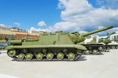 ISU-152 - var ett sovjetiskt bepansrat självgående vapen Royaltyfri Fotografi