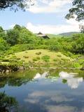 Isuien Zengarten in Nara Stockbild
