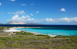 Isuledda海滩,撒丁岛 库存图片