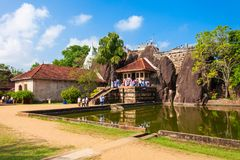 Isurumuniya Buddyjska świątynia, Anuradhapura Fotografia Royalty Free
