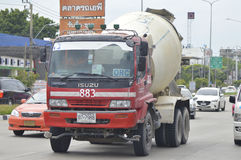 Isuzu Car Cement truck of Orc Concrete company. Royalty Free Stock Photos