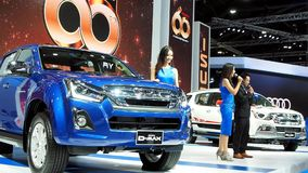 Isuzu celebrates 60th anniversary at the 34th Thailand International Motor Expo 2017. At Impact Challenger in Nonthaburi province near Thai capital Bangkok stock footage
