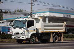 Isuzu Dump Truck privada fotografia de stock
