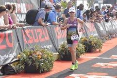 Isuzu Ironman Νότια Αφρική - παγκόσμιο πρωτάθλημα στο λιμένα Elizabeth στη Νότια Αφρική Στοκ Εικόνα