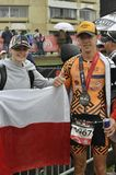 Isuzu Ironman Νότια Αφρική - παγκόσμιο πρωτάθλημα στο λιμένα Elizabeth στη Νότια Αφρική Στοκ Εικόνες