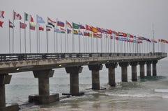 Isuzu Ironman Südafrika - Weltmeisterschaft in Port Elizabeth in Südafrika lizenzfreie stockfotografie