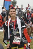 Isuzu Ironman Südafrika - Weltmeisterschaft in Port Elizabeth in Südafrika stockbild