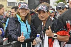 Isuzu Ironman Südafrika - Weltmeisterschaft in Port Elizabeth in Südafrika lizenzfreies stockfoto