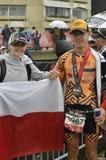 Isuzu Ironman Südafrika - Weltmeisterschaft in Port Elizabeth in Südafrika stockbilder