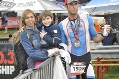 Isuzu Ironman Sudafrica - campionato del mondo in Port Elizabeth in Sudafrica Fotografie Stock Libere da Diritti