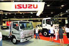 Isuzu lorry display during the Singapore Motorshow 2016 Stock Photo