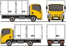Isuzu NPR Delivery Truck vector illustration