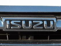 Isuzu samochodu emblemat fotografia royalty free