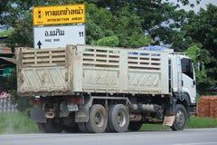 Isuzu Trailer-stortplaatsvrachtwagen van de steenbedrijf van D Royalty-vrije Stock Afbeelding