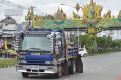 Isuzu Trailer truck Stock Photo