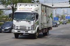 Isuzu Trailer truck, container. Stock Photo