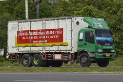 Isuzu Trailer truck, container. Royalty Free Stock Photography