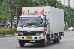 Isuzu truck, container. Stock Images