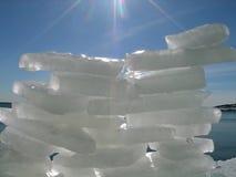isvägg Arkivfoto