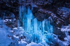 Isvägg på Roan Mountain Arkivbild