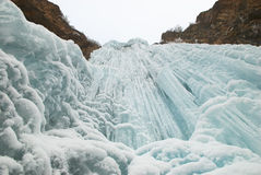 isvattenfallvinter Arkivbilder