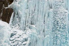 isvattenfallvinter Arkivfoto