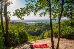 ISzmaragdowe湖在什切青,波兰 免版税库存图片