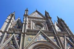 Itália, Úmbria: Detalhe de catedral de Orvieto imagem de stock