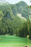 Itália, Alto Adige: Reflexão no lago Tovel Foto de Stock Royalty Free