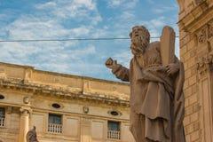 Itália: Arquitetura barroco histórica de San Sebastiano Church do centro Fotografia de Stock