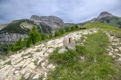 Itália, arredores de Cornetto da montagem, cumes italianos foto de stock