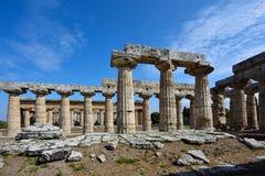 Itália, Campania, Paestum - templo de Hera Fotografia de Stock