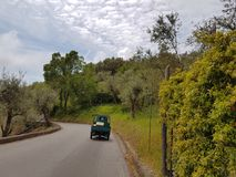 Itália do sul - na paisagem da estrada Foto de Stock Royalty Free