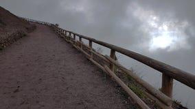 Itália do sul, na parte superior do Vesuviu - paisagem fotografia de stock