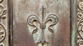 Itália: Feche acima da porta velha rústica Imagens de Stock Royalty Free