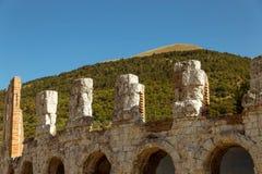 Itália - Gubbio: teatro romano antigo Imagem de Stock Royalty Free