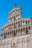 Itália, Lucca, a fachada da igreja de St Michael no furo Fotos de Stock