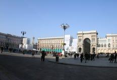 Itália, Milão no quadrado principal imagem de stock royalty free