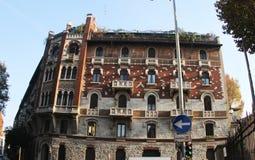Itália Milão, Tetris figura na construção Imagens de Stock Royalty Free