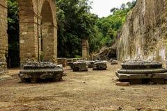 ITÁLIA - NAPOLI - archeologici di Baia de Scavi Fotos de Stock