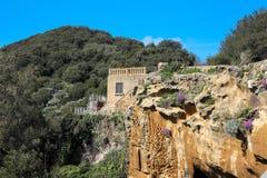 ITÁLIA - NAPOLI - archeologici di Cuma de Scavi Fotografia de Stock Royalty Free