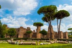 Itália, Roma, banhos de Caracalla Imagens de Stock